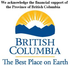We acknowledge the financial support of the Province of British Columbia